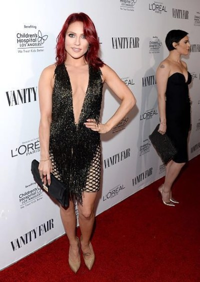 Sharna Burgess from Dancing With The Stars at the Pre-Oscar Vanity Fair Party