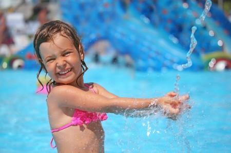 Girl Splashing in Pool(7)